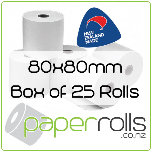 80x80 mm Thermal Receipt Rolls Box 25