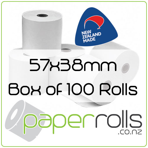 Thermal Eftpos Rolls - 57x38 mm Box of 100