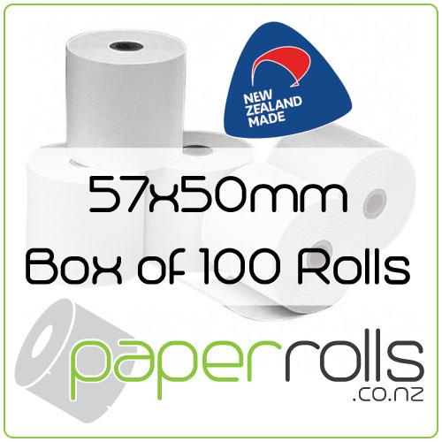 Thermal Eftpos Rolls - 57x50 mm Box of 100