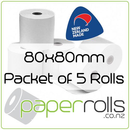 80x80 mm Thermal Receipt Rolls per 5